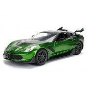 Transformers Vehículo Metals 1:24, Chevy Corvette Stingray with Die Cast Collectible, 1:24