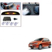 Auto Addict Car Silver Reverse Parking Sensor With LED Display For Tata Indica