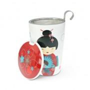 Taza de infusión con filtro Teave Geisha roja   tazas Eigenart