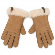Ръкавици UGG - W Shorty Glove W Leather Trim 17367 Chestnut