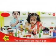 Детска дървена влакова композиция, 517116521