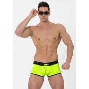 Eros Veneziani Contrast Push Up Square Cut Trunk Swimwear Yellow/Black 7223