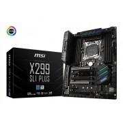 MB MSI X299 SLI PLUS, LGA 2066, ATX, 8x DDR4, Intel X299, S3 8x, LAN 2x, 36mj