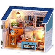Fortitude - Dollhouse Miniature DIY Kit Cover Warm Secret Living Room Romantic Love Home for Valentine's gift