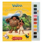 Vaiana. Sa pictam cu Vaiana. Carte de colorat cu pensula si acuarele