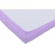 Set 3xCearceaf cu elastic pt patut de 120x 60 cm lila+alb+bleu