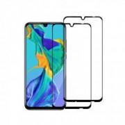 Set 2 folii protectie sticla securizata fullsize pentru Huawei P Smart Plus 2019 negru