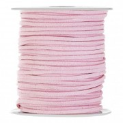 Bőr zsinór 3mmx45m rózsaszín