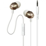 Amkette Trubeats X9 Metal in- ear Earphones with Mic and Remote Control (Gold)