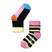 Kids Stripes Yellow Black Pink: 23-26