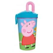 Vaso Popote Flexible Peppa Pig