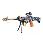 Gifting Musical Army Style Toy Gun with Music, Lights and Laser Light, 56 CM Long (Multicolor)