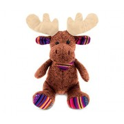"Puzzled Sitting Brown Moose Super Soft Stuffed Plush Cuddly Animal Toy Wild Animals Collection 9"" Inch Unique Huggable Loveable New Friend Gift Item #5064"