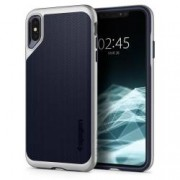Husa Premium Originala Spigen Neo Hybrid iPhone Xs Max Satin Silver