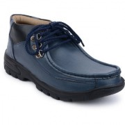Footista Mens Blue Lace-up Lace-up Boot