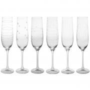 BASTIDE Table et Passion 6 Flutes à champagne graphik 19cl