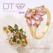 Rosie Pink & Green, női gyűrű