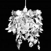 vidaXL Lampă de tavan cu paiete 21,5 x 30 cm, Argintiu