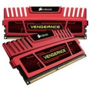 Memorie Corsair Vengeance Red 16GB (2x8GB) DDR3, 1600MHz, PC3-12800, CL10, Dual Channel Kit, CMZ16GX3M2A1600C10R