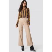 NA-KD Classic Tailored Flared Pants - Beige
