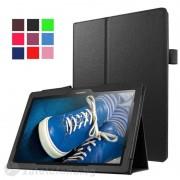 Кожен калъф за Lenovo Tab 3 Plus 10.1 инча - черен