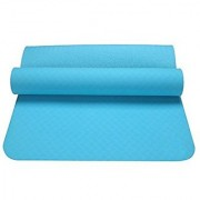 Strauss Lightweight Eco Friendly Yoga Mat 6 mm (Blue)