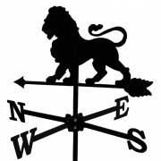 Svens Girouette Lion en fer forgé petit modèle