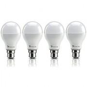 Syska 9W LED Bulb Cool Day Light - Pack of 4
