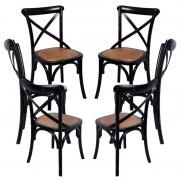 Pack 6 Cadeiras Altea - Preto