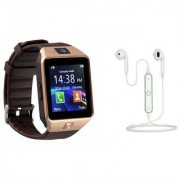 Zemini DZ09 Smart Watch and S6 Bluetooth Headsetfor SAMSUNG GALAXY CORE PRIME VE(DZ09 Smart Watch With 4G Sim Card Memory Card| S6 Bluetooth Headset)