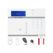 Kit antifurto casa saturn ip contatti magnetici sirena wireless sensori pir doppia tecnologia