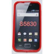 Силиконов гръб ТПУ за Samsung S5830 Galaxy Ace Червен