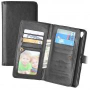 Sony Xperia Z5 Premium, Xperia Z5 Premium Dual Multifunctional Wallet Case - Black