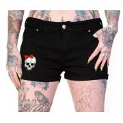 pantaloni scurți (pantaloni scurti) femei BANNED - Schelet mâini - QBN1805
