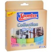 4 Lavete Microfiber Collection Spontex