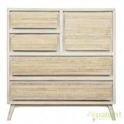 Dulap design nordic din lemn de mango DEXTER 1DO-4DR 0745543 BZ
