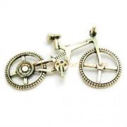 Bicicleta de metal dorada (5 x 3 cm aprox.)