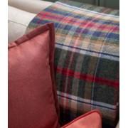 Johnstons Plaid Laine Écossais Réversible Luxe Vert et Rouge 140 X 190 cm
