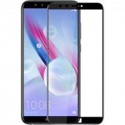 Hupshy Honor 9 Lite Tempered Glass Screen Protector Full Glue Edge to Edge Fit 9H Hardness Bubble Free Anti-Scratch Crystal Clarity 2.5D Curved Screen Guard for Honor 9 Lite Black