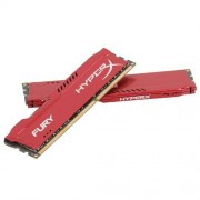 "Kingston ""Memoria Kingston 16GB HyperX Fury DDR3 1866MHz Red (HX318C10FRK2/16)"""