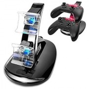 Generic Black PVC Dual USB LED Fast Charging Charger Dock Station Stand for dual Xbox One game controller