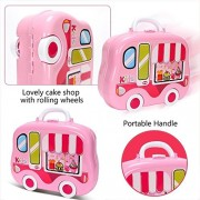 Magnifico™Kitchen Set Toy for Girls with Wheel Carry Case Suitcase (26 Pink Kitchen) (Kitchen Playset Pink)