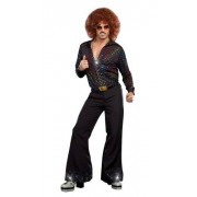 Dreamgirl Adult Disco Dude Shirt Costume Small