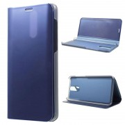 Luxury Mirror View Huawei Mate 10 Lite Flip Case - Blue