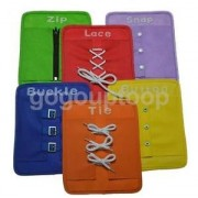 Alcoa Prime 6pcs Kids Learn To Dressing Lacing Plates Boys Girls Educational Learning Toy