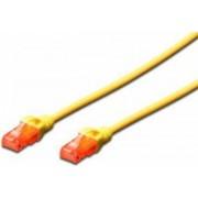 Cablu UTP Digitus Premium Patchcord Cat 6 3m Galben