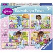 Puzzle Doctorita Plusica, 4 buc in cutie, 12/16/20/24 piese Ravensburger