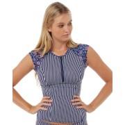 Swell Castaway Ss Rash Vest Stripe