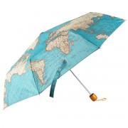 wereld kado - Paraplu met vintage wereldkaart | Sass & Belle