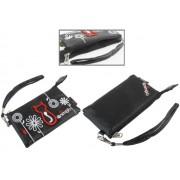 Animob A02-97BK hímzett mobiltelefon tok dupla 75 x 12 x 125mm - fekete